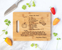 Load image into Gallery viewer, Bamboo Family Recipe Board | Medium with Christmas Border