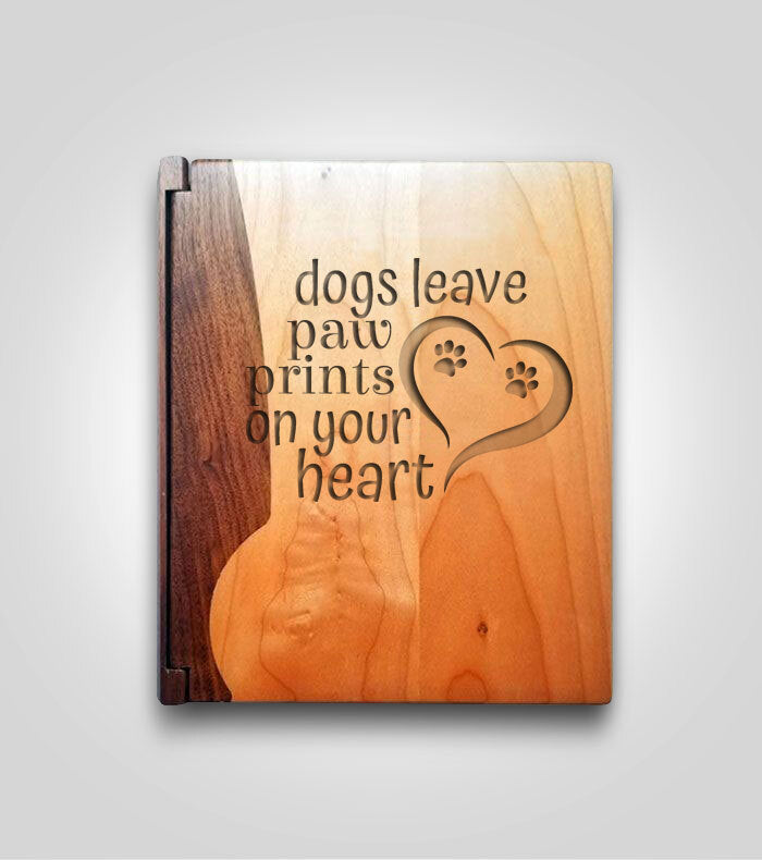 Walnut Photo Album | Dog Paws
