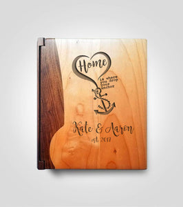 Walnut Photo Album | You're My Anchor
