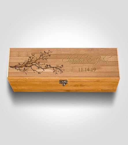Bamboo Wine Box | Lovebirds