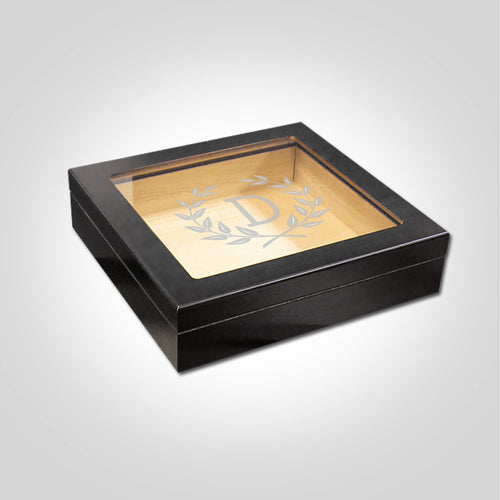Small Black Humidor | Wreath