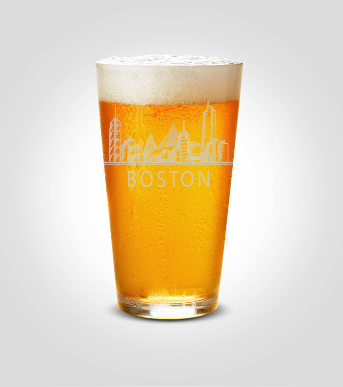 Pint Glass | Boston Skyline