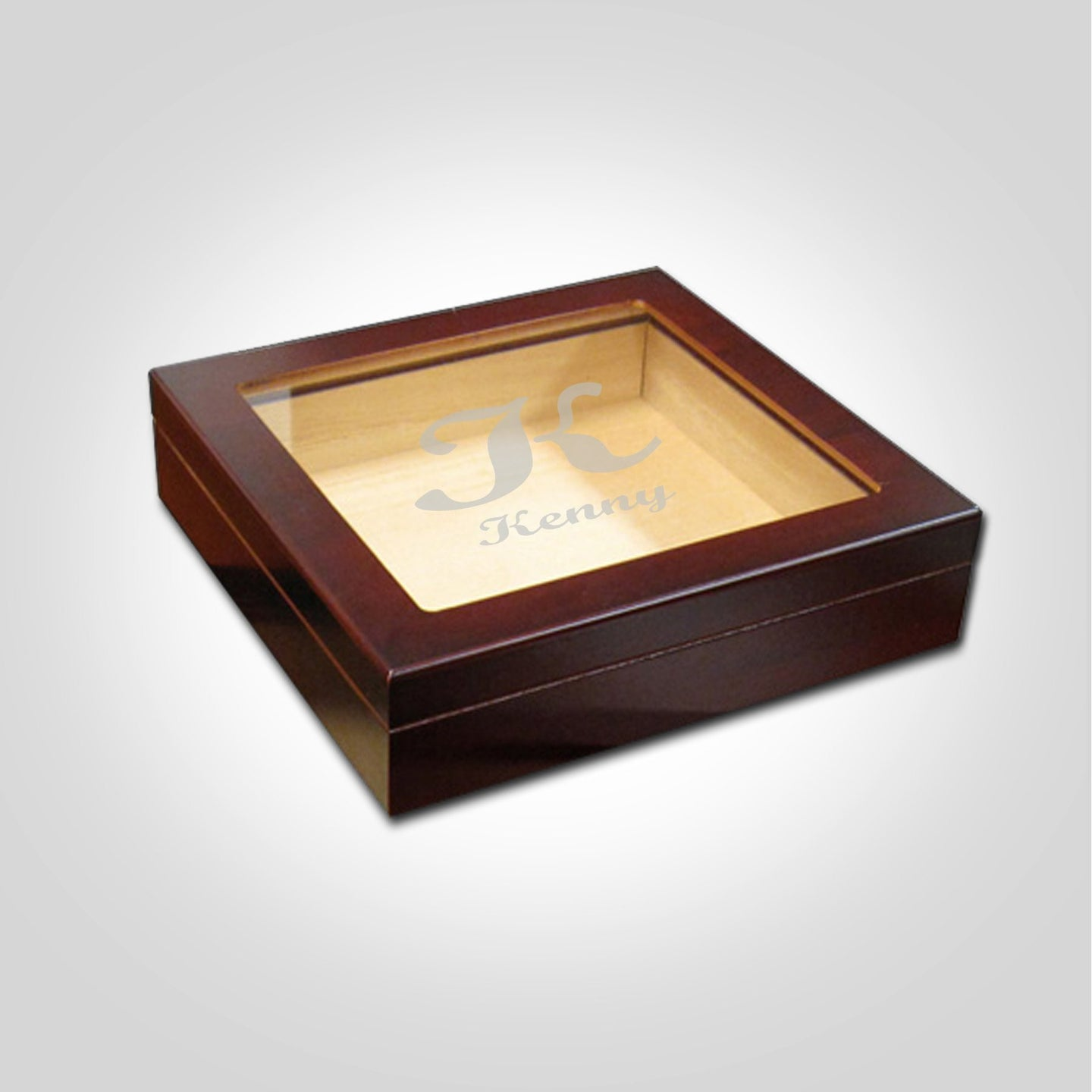 Small Cherry Humidor | Cursive