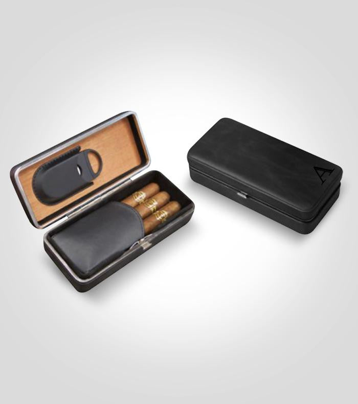 Black Travel Cigar Case
