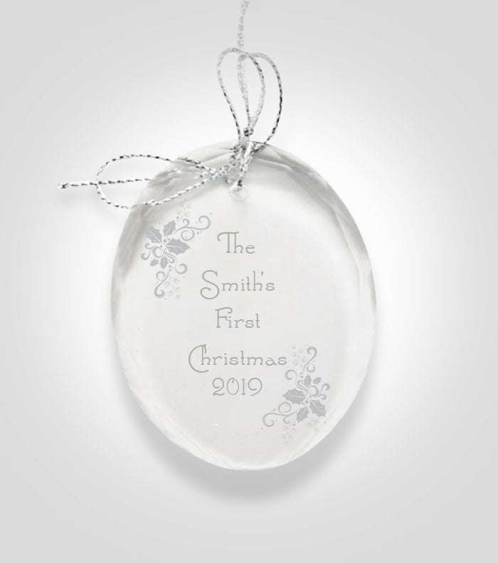 Oval Crystal Ornament | Holiday Design