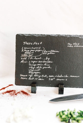 Slate Recipe Board with Stand | Large