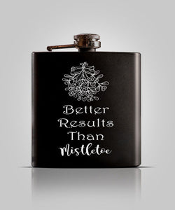 Single Black Flask | Mistletoe