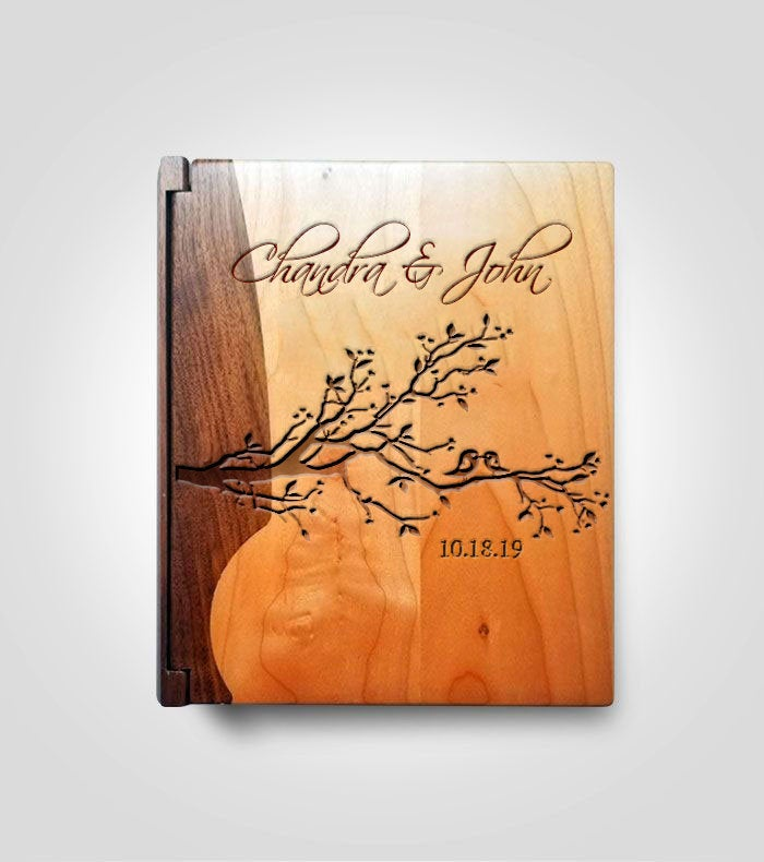Walnut Photo Album | Lovebirds