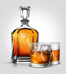 Flat Decanter Set | Holidays