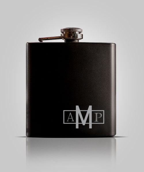 Single Black Flask | Groomsmen