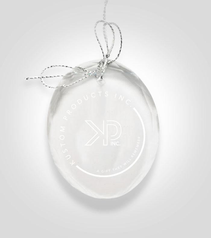 Oval Crystal Ornament | Custom Image