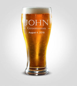 Pilsner Glass | Groomsman