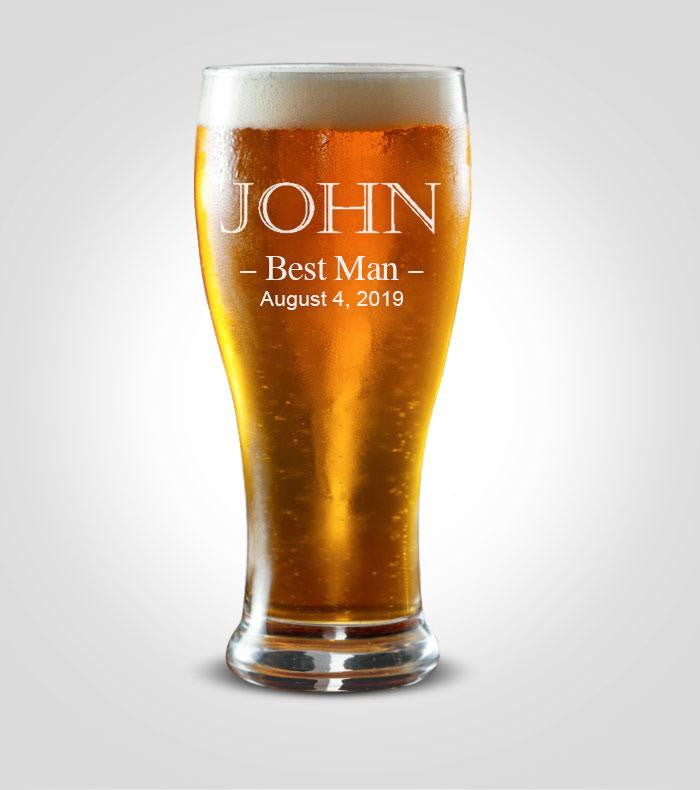 Pilsner Glass | Best Man