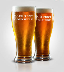 Pilsner Glass | Your Text Here