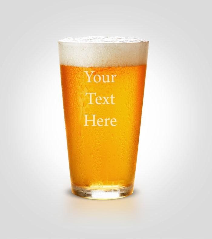 Pint Glass | Your Text Here