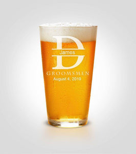Pint Glass | Initials