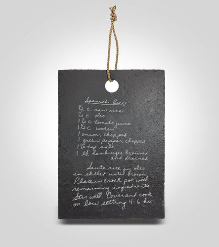 Slate Hanging Recipe Board | Large