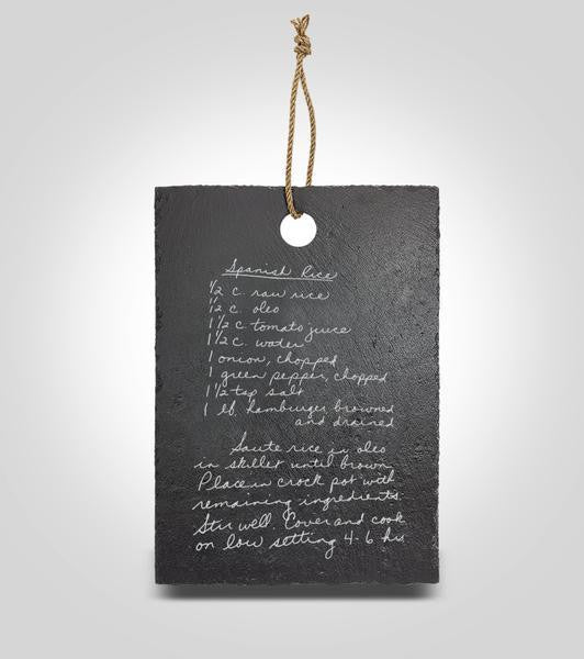 Slate Hanging Recipe Board | Small