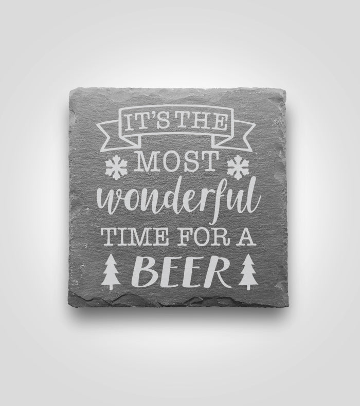 Slate Coaster | Holiday