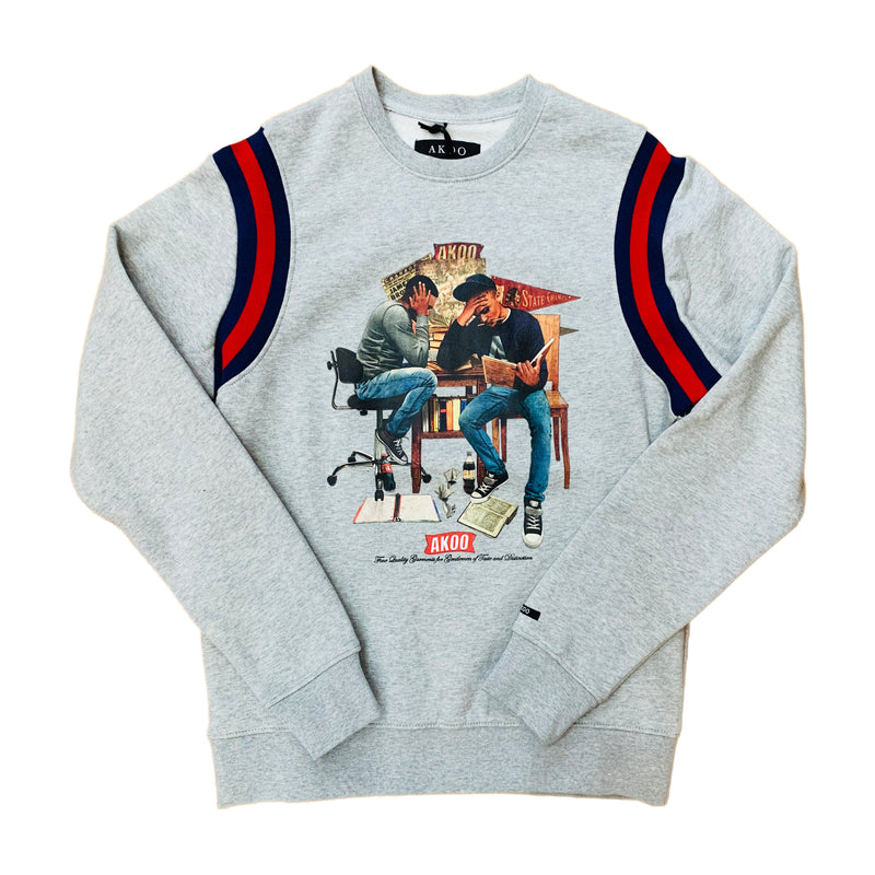 AKOO Crewneck Sweatshirt 791-0321 Heather Grey