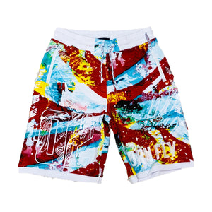 Born Fly Sweat Shorts 1904B3237 Blue
