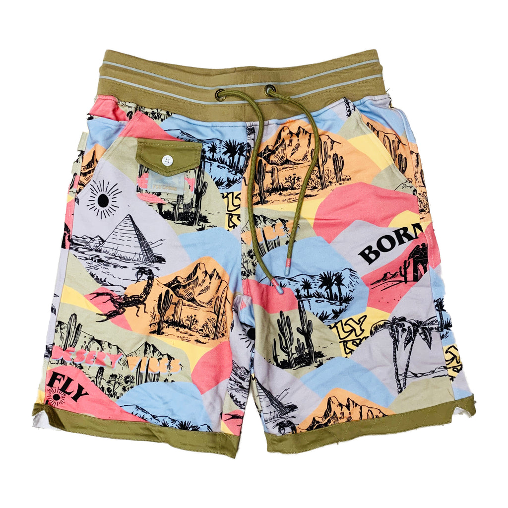 Born Fly Sweat Shorts 1905B3289 Khaki