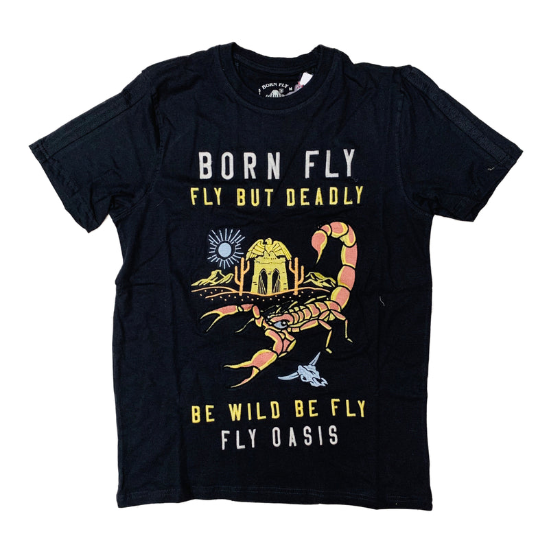 Born Fly S/S Tee 1905T3292 Vintage Black