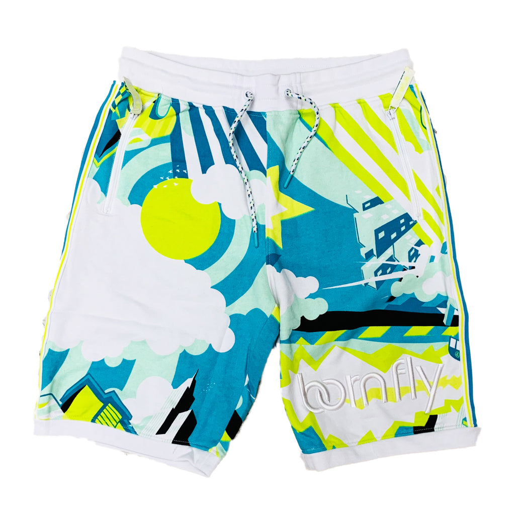 Born Fly Sweat Shorts 1905B3279 White