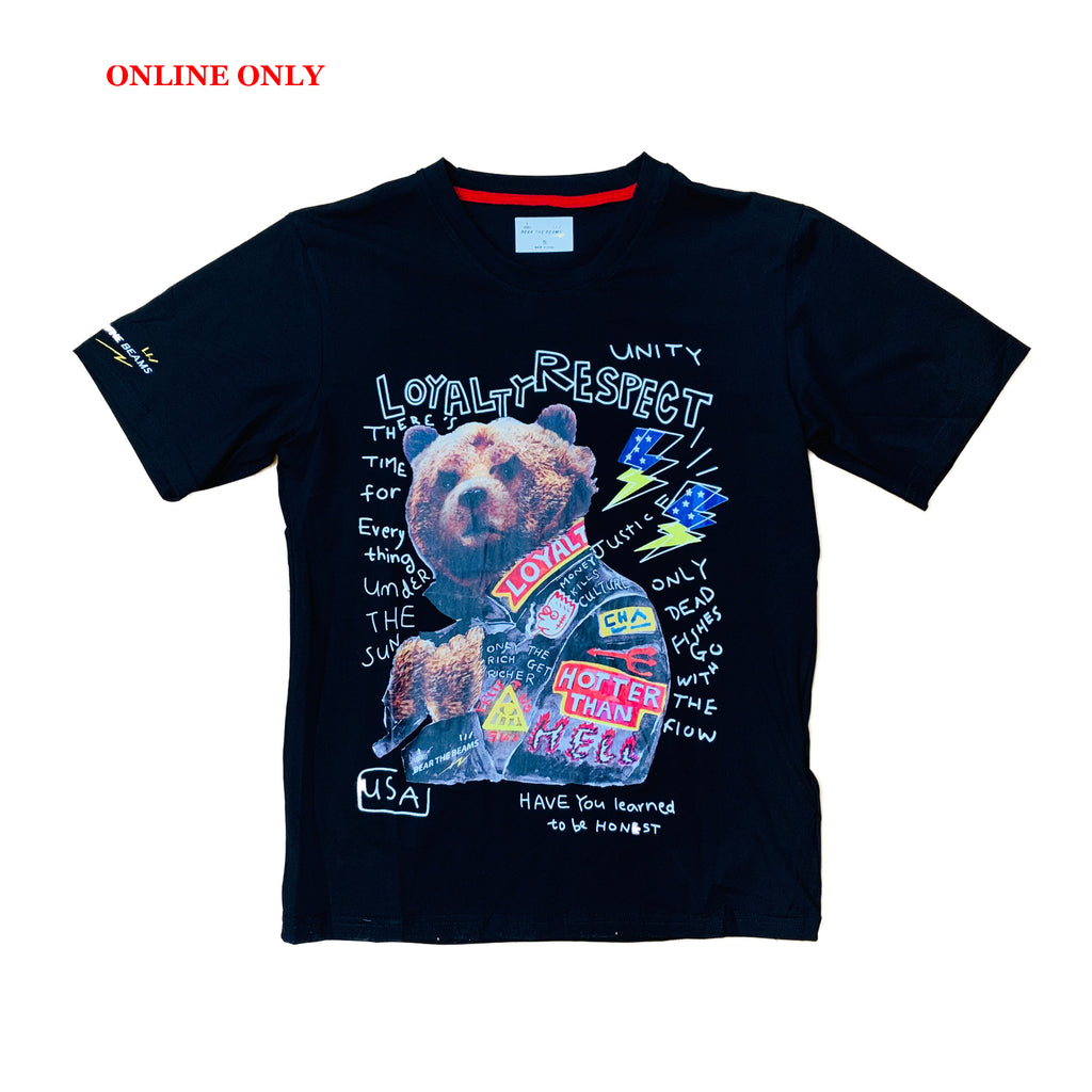 Bear The Beams S/S Tee BTT25 Black