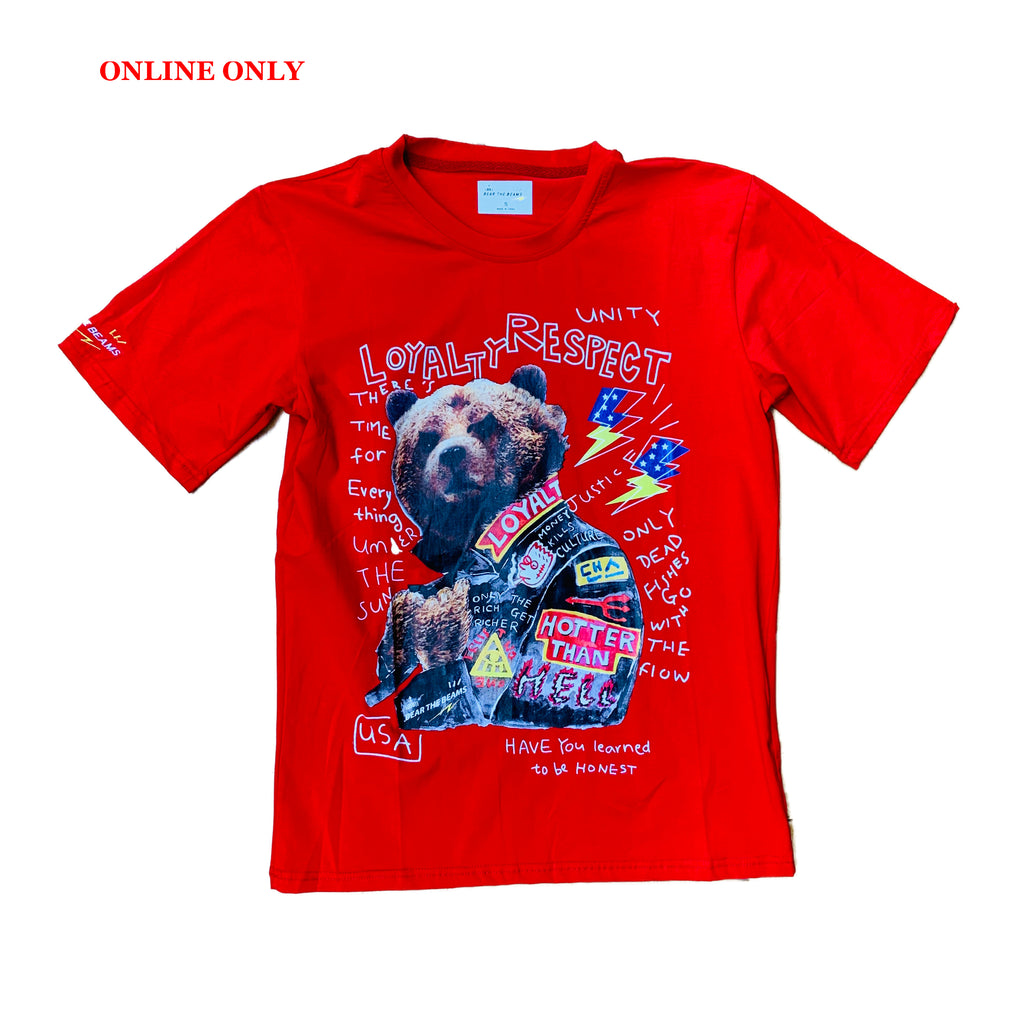 Bear The Beams S/S Tee BTT25 Red