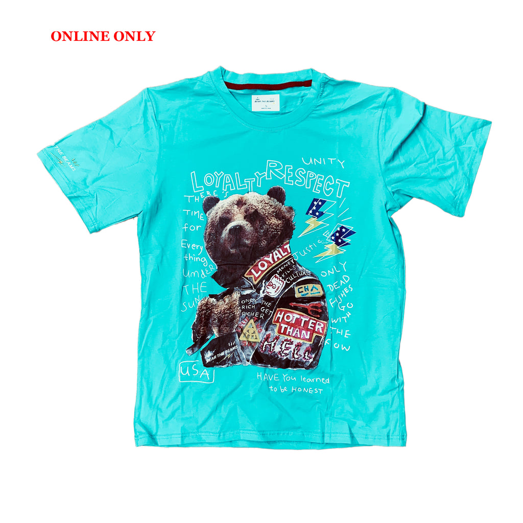 Bear The Beams S/S Tee BTT25 Turquoise