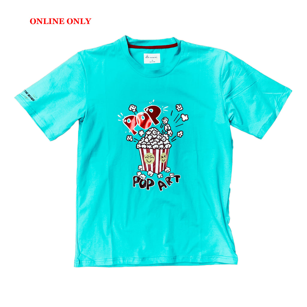 Bear The Beams S/S Tee BTT22 Turquoise
