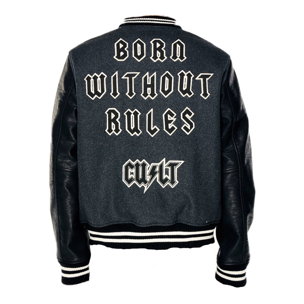 Cult of Individuality Varsity Jacket 69B9-JV33A Charcoal