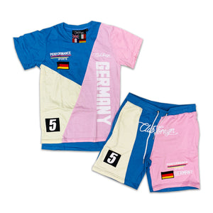 "Club Foreign Sweat Short Set ""Germany"" Pastel"