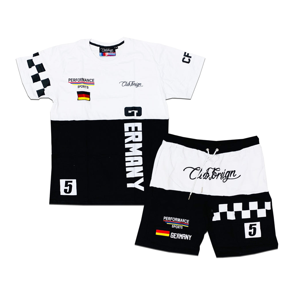 "Club Foreign Sweat Short Set ""Germany"" Black"