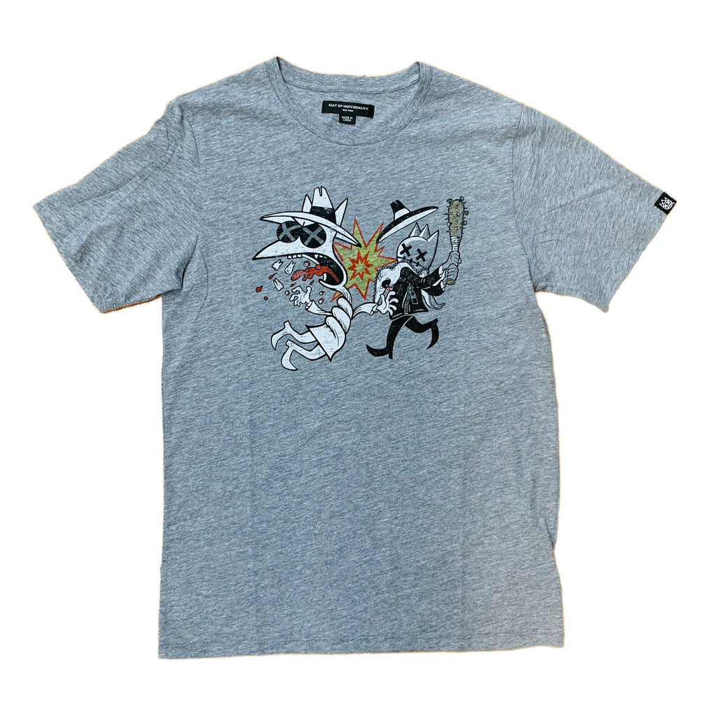Cult of Individuality S/S Tee 69B9-K12A Heather Grey