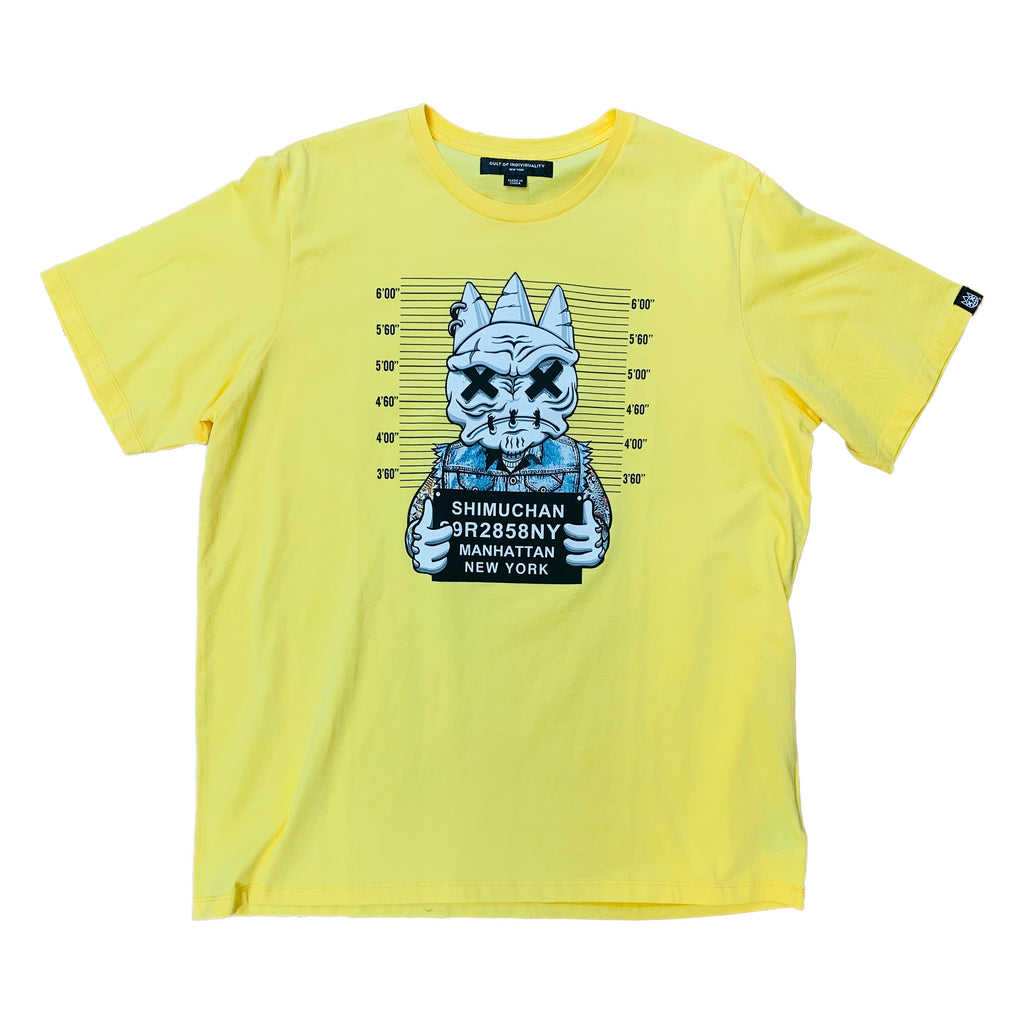 Cult of Individuality S/S Tee 69A6-K57A Yellow