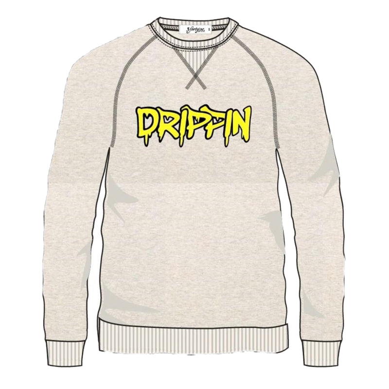 "3 Forty Crewneck Sweastshirt ""Dripping"" CREME"