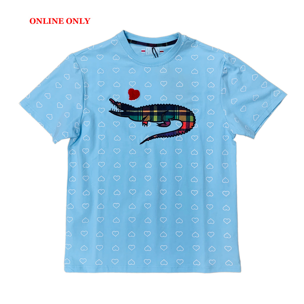 "Black Keys S/S Tee ""Alligator"" Blue"