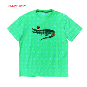 "Black Keys S/S Tee ""Alligator"" Line Green"