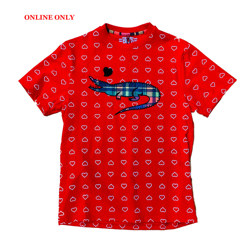 "Black Keys S/S Tee ""Alligator"" Red"