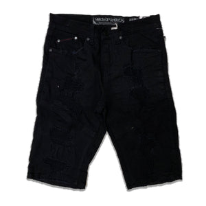 Heritage By America Denim Shorts HA-WB-804 Black