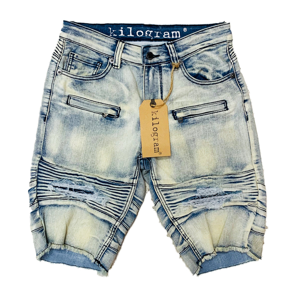 Kilogram Denim Shorts KG1804 Lt Blue