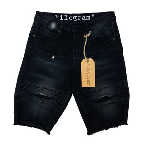 Kilogram Denim Shorts KG1804 Black Wash