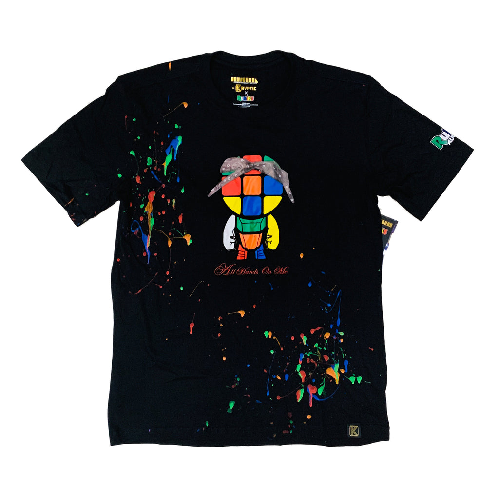 Kryptic Short Sleeve Tee Black Paint Splatter