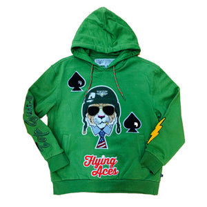 "Top Gun Pullover Hoody TGD1905 ""Flying Aces"" Olive"