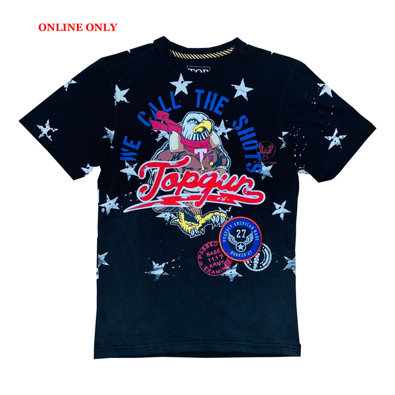 Top Gun S/S Tee TGM1901 Black