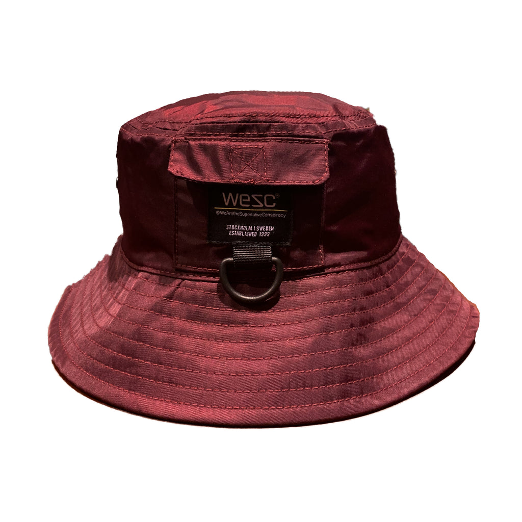 WESC Nylon Bucket Hat Burgundy