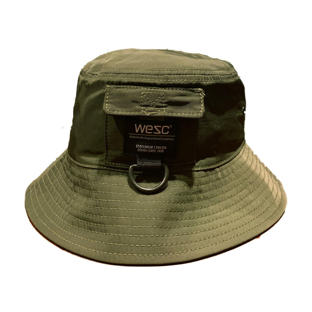 WESC Nylon Bucket Hat Olive Green