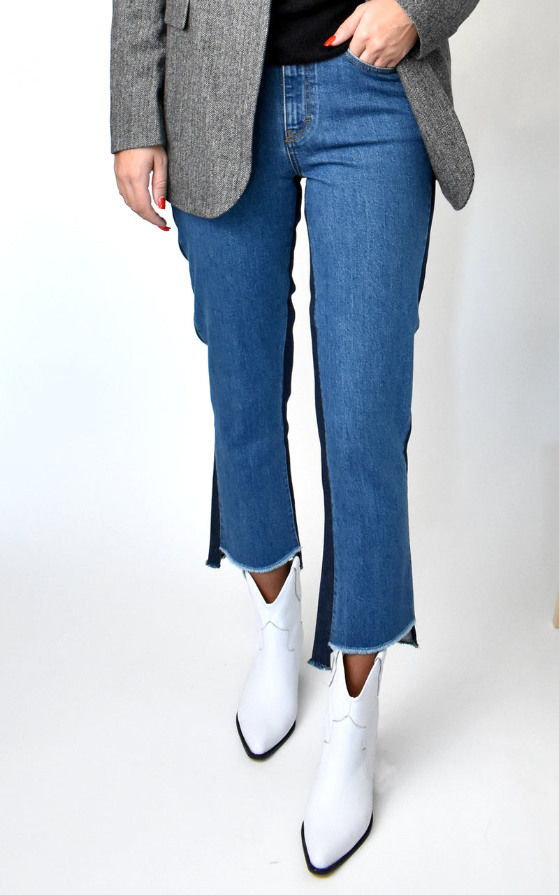 Glow Relaxed Fit Front Back Contrast Jeans